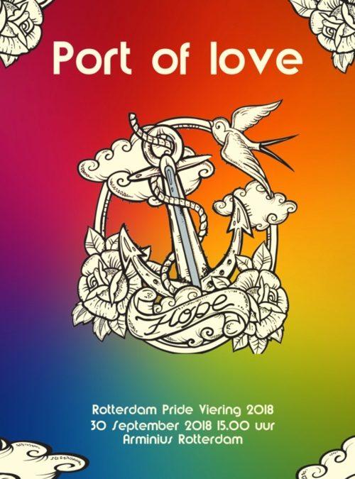 Het levensverhaal van DomineeBerkvens in de Prideviering in Rotterdam