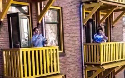 Conservatoriumstudenten geven balkonconcert