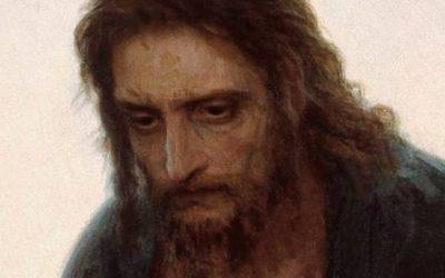 Christus in de wildernis van Ivan Kramskoi